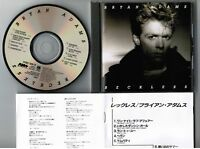 BRYAN ADAMS Reckless JAPAN CD 1985 1st issue w/BOOKLET 38XB-26 CD-20T3 TBT23(?)