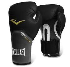 Everlast Pro Style Elite Training boxing bag gloves punch punching 12oz Black