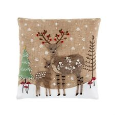 Winter Forest applique reindeer Nordic Christmas cushion