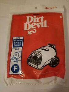 Brand New - Dirt Devil Type F Vacuum Bags 3 Pack