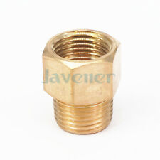"1/2"" NPT Male x 1/2"" NPT Female Brass Pipe Fitting Connector For Pressure Gauge"