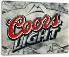 Coors Light Logo Silver Bullet Retro Wall Decor Bar Cave Large Metal Tin Sign