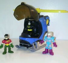 Batman & Robin imaginext figures and helicopter