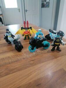Imaginext DC Super Friends Batman snow ski bike motorbike Bat bike Robin missile