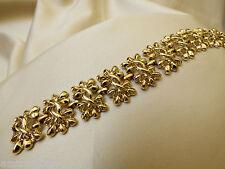"""VTG signed CORO Gold Tone Metal whide link Bracelet 7""""L"""