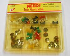 Dorman 60 Piece Pushpin & Tack Assortment