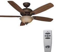 Ceiling Fan 52-in with Lights & Remote 5-Blades Walnut / Dark Oak Flush Slope