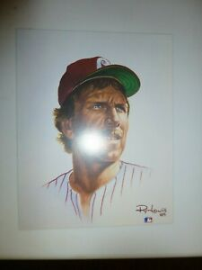 1989 CAPITAL CARDS 8X10 PRINT/5000 MIKE SCHMIDT 4 BY RON LEWIS