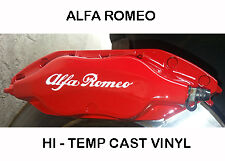 Set of 4 x Brake Caliper Decal Sticker compatible with Alfa Romeo colour: white