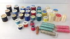 Lot 38 Assorted Colors Sewing Thread Spools Ribbon Clear Invisible bundle