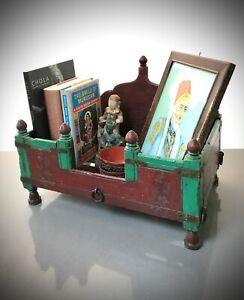 ANTIQUE INDIAN HINDU SHRINE / HOME ALTAR. BEDSIDE TABLE FOR PERSONAL ARTEFACTS.