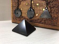 Shungite Pyramid 40 + Shungite Pendants Necklace (3 pcs) EMF Protection