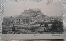 RPPC Real Photo Postcard Acropole (Est) Athens Greece Ruins VTG