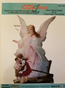 Car Decal Color Vinyl the Guardian Angel Traditional Perfect for Child's Room