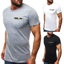Figurbetonte Herren-T-Shirts mit Rundhals