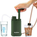 Survival Water Filter Pump 4 Stage Filtration Outdoor Camping Drinking Emergency