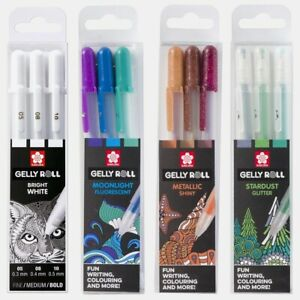Sakura Gelly Roll Gel Pen | Pack of 3 | Moonlight | Metallic | Stardust | White
