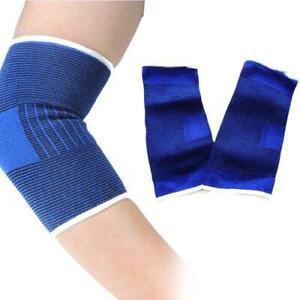 Elasticated Elbow Arm Support Brace Arthritis Injury Gym Bandage Sports Sleeve