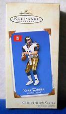2002 Hallmark Ornament Kurt Warner Football Legends # 8 NFL st louis rams