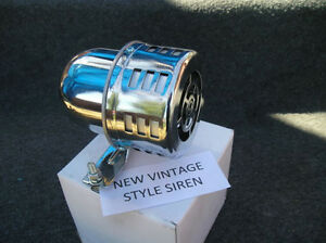 NEW SMALL CHROME METAL VINTAGE STYLE SIREN #