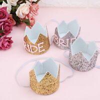 Glitter Crown Headband Bride Hairband Birthday Party Hat Baby Headwear Hot