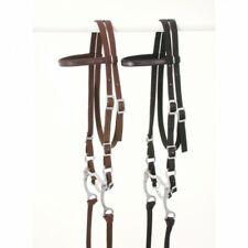 King Series Black Nylon Browband Bridle w/ Bit Horse Tack 42-7298