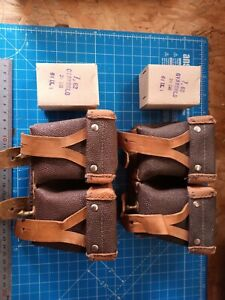 Mosin Nagant Leather Ammo Pouches Cold War Red Army with Training Rounds