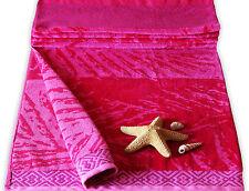 Pink Sunburst Velour Giant Beach Towel  100%Egyptian Cotton  Bath Sheet Holiday