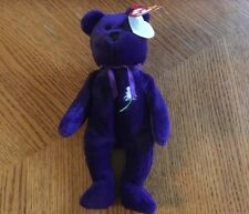 Ty Beanie Baby Princess Diana BEAR Purple 1997 INDONESIA No Space PVC RARE!