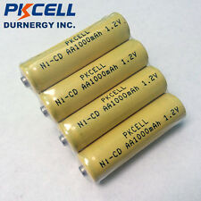 50 AA NI-Cd NiCd Rechargeable Battery 1.2V 1000mAh Batteries Button Top PKCELL