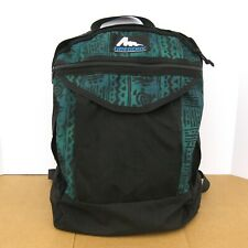 Vintage Gregory Geometric Day Hiking Backpack Frameless Black Green Pack 90s