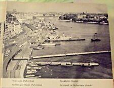1962 Carte & Image Suède & Norvège sud,Estonie,Lettonie,Lithuanie,Stockholm