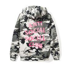 Anti Social Social Club Frozen Hoodie Snow Camo ASSC Hooded Sweatshirt M Medium