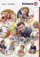 Schleich Katalog 2016 Jan-Jun Spielzeug Prospekt brochure toys catalogue jouets