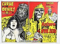 "CURSE OF THE DEVIL / RETURN OF THE EVIL DEAD UK CINEMA QUAD POSTER repro 30x40"""