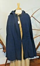 Civil War Wool Cape Shawl With Hood Blue New