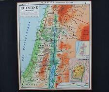 Carte scolaire EGYPTE PALESTINE Ancienne HATIER 46 Jérusalem Tribus Ecole 1,2*1m