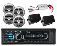 800W Amplifier,6 Marine Speakers+Marine Boss USB iPod SD AM FM Bluetooth Radio