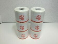 Veterinary Prescription Labels Red Paw Print Amp Warning Comp With 30258 6 Rolls