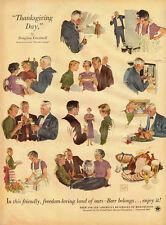 1953 vintage Ad, BEER ! , U.S. Brewer's Foundation, Douglas Crockwell Art 030714