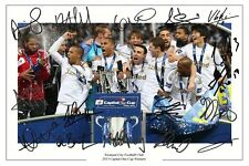 SWANSEA CITY SQUAD CAPITAL ONE CUP FINAL SIGNED PHOTO AUTOGRAPH PRINT MICHU