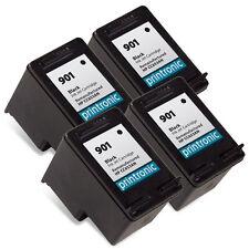 Printronic 4pk for HP 901 Bk CC653AN Ink Cartridges J4540 J4550 J4580 J4500
