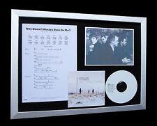 TRAVIS Why Rain On Me LTD Nod MUSIC CD FRAMED DISPLAY!!