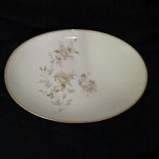 """Noritake Ingrid Pattern China Platter 14"""" Pattern #5904 white, yellow dark green"""