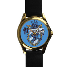 Ravenclaw House Harry Potter Wizard School of Magic Gold Leather Strap Watch