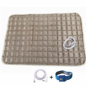 EMF EMI Reducing Earthing Grounded Silver Blankets & Throws Plush Pad Sheet Mats