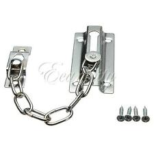 Door Security Guard Safety Chain Lock Bolt Stainless Steel Home w/ Screws New