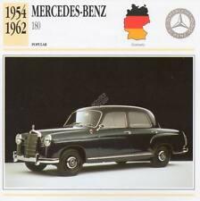 1954-1962 MERCEDES BENZ 180 Classic Car Photograph / Information Maxi Card
