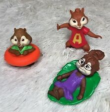 Alvin & the Chipmunks McDonalds 2009 Lot of 3 Happy Meals Toy VGUC