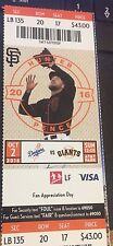 2016 SF GIANTS VS LA DODGERS TICKET STUB 10/2 VIN SCULLY LAST GAME ANNOUNCING